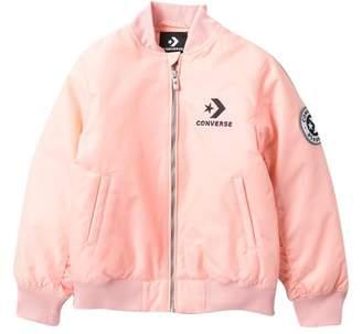 Converse Pollyfill Varsity Bomber Jacket (Big Girls)