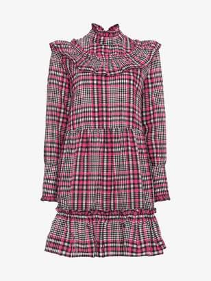 Ganni Charron checked dress