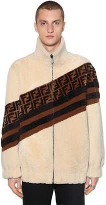 Fendi Reversible Shearling & Sued Jacket
