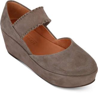 Gentle Souls by Kenneth Cole Women Nyssa Ruffle-Strap Mary-Jane Wedges Women Shoes