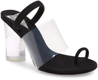 Jeffrey Campbell Mania Clear Toe Loop Sandal