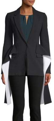 Givenchy Draped Single Button Blazer
