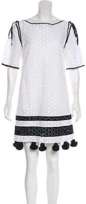 Monse Pom Pom Embroidered Dress