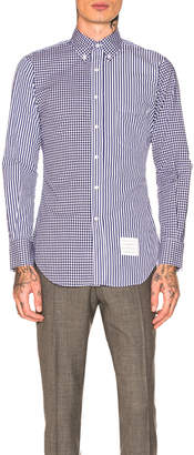 Thom Browne Classic Long Sleeve Point Collar Shirt