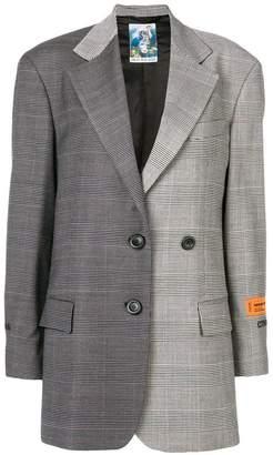 Heron Preston checked tailored blazer