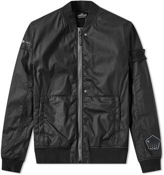 Stone Island Shadow Project Poly-Hide Back Print Bomber Jacket