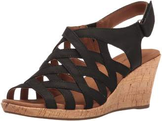 Rockport Women's Briah Woven Wedge Sandal