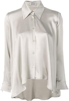 Balossa White Shirt asymmetric silk shirt
