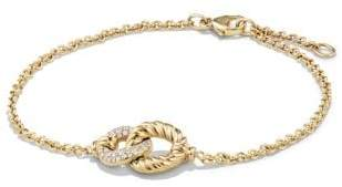 David Yurman Belmont® Curb Link Pendant Bracelet With Diamonds In 18K