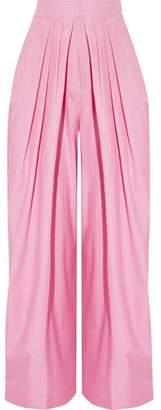 Vika Gazinskaya Pleated Cotton Tapered Pants
