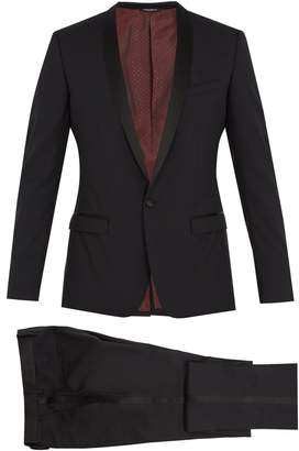 Dolce & Gabbana Gold-fit shawl-lapel wool-blend suit