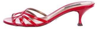 Dolce & Gabbana Patent Leather Peep-Toe Sandals