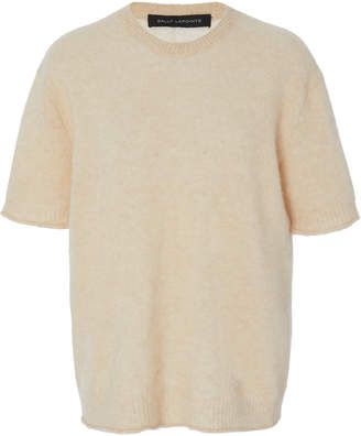 Sally LaPointe Airy Crewneck Silk And Cashmere T-Shirt