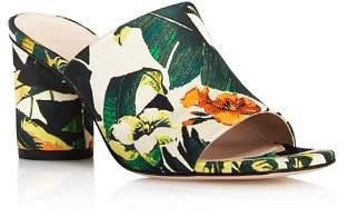 Stuart Weitzman Women's Slideon Floral Print High-Heel Slide Sandals