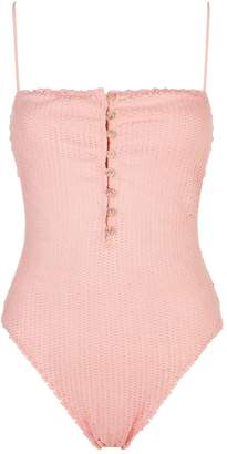 Vix Buttoned Scales Swimsuit