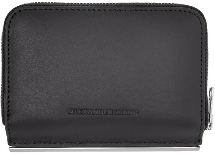 Alexander WangAlexander Wang Black Dime Compact Bar Wallet