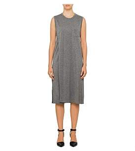Alexander Wang Classic Crew Neck Overlap Dress With Chest Pocket