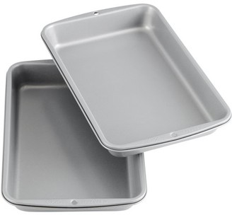 Wilton Recipe Right Non-Stick Biscuit and Brownie Pan, 11 in. x 7 in. (2-Pack)