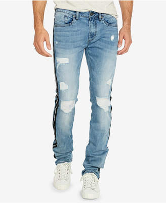 Buffalo David Bitton Men Ash-x Slim-Fit Stripped Jeans