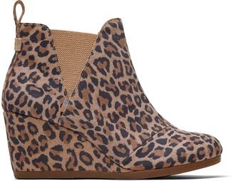 Desert Tan Leopard Print Suede Women's Kelsey Booties