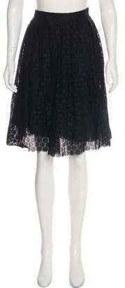 Robert Rodriguez Eyelet A-Line Skirt
