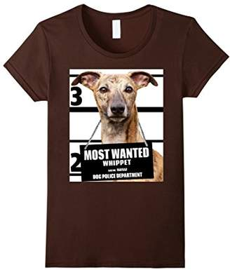 Most Wanted Whippet T-shirt - Cute Funny Dog Tee Shirts