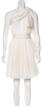 Faith Connexion Silk One-Shoulder Dress