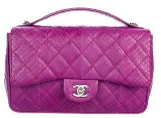 Chanel Python Easy Carry Medium Flap Bag