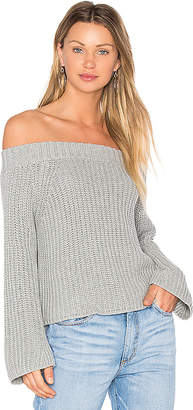 525 america Off The Shoulder Sweater in Gray $96 thestylecure.com
