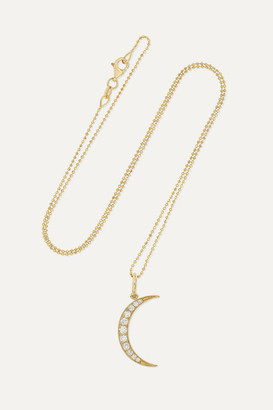Andrea Fohrman Luna Medium 18-karat Gold Diamond Necklace