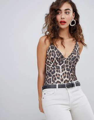New Look Leopard Print Strappy Body