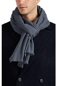 From The Road Men's Pari Wool-Cashmere Gauze Scarf - Blue