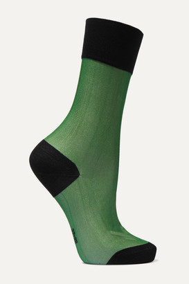 Falke Mystical Radiance Two-tone Cotton-blend Jersey Socks - Mint