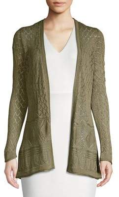 Joseph A Diamond-Pattern Pointelle Cardigan