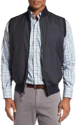 Men's Peter Millar Lenoir Windproof Water-Resistant Hybrid Vest $195 thestylecure.com