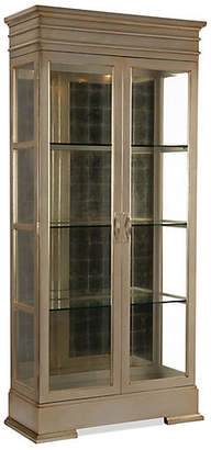 John-Richard Collection Stallings Display Cabinet - Silver Leaf