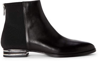 DKNY Black Lacey Leather Ankle Boots