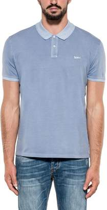 Woolrich Light Blue Stretch Polos