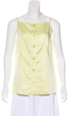 Opening Ceremony Sleeveless Button-Up Top