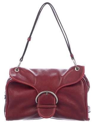 Hogan Pebbled Leather Shoulder Bag
