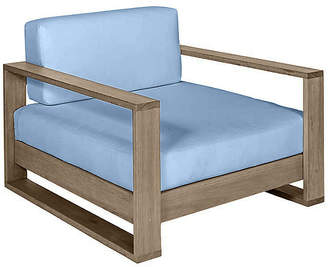 Southern Komfort Bed Swings Percy Club Chair - Driftwood/Blue Sunbrella