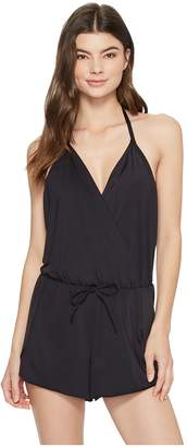 Kenneth Cole Ready To Ruffle Romper Cover-Up Women's Swimsuits One Piece