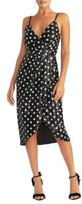 Rachel Roy Faye Sequin Polka-Dot Midi Dress