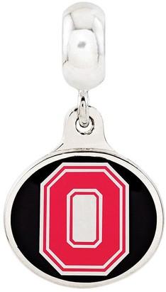 Collegiate Bead Company Sterling Silver Ohio State University Dangle Bead