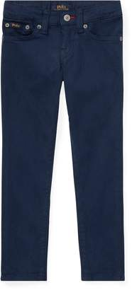 Ralph Lauren Embroidered Sateen Skinny Jean