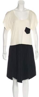 Band Of Outsiders Short Sleeve Midi Dress black Short Sleeve Midi Dress