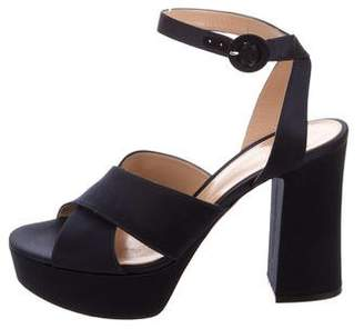Gianvito Rossi Satin Platform Sandals