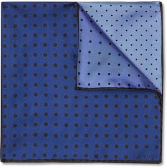 Lanvin Polka-Dot Silk-Twill Pocket Square