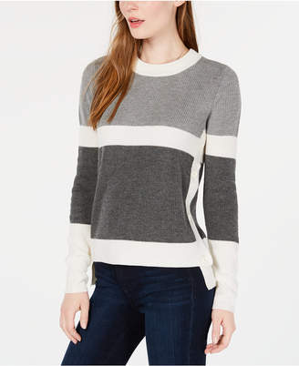 Maison Jules Colorblocked High-Low Sweater
