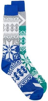 Sacai fairisle knit socks